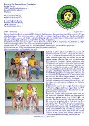 Rundbrief August 2013 - The Dog Rescue Center Samui