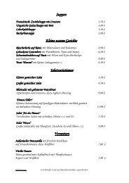 finden Sie unsere aktuelle Speisekarte mit ... - Hotel Keindl