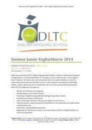 Sommer Junior Englischkurse 2014 – DLTC Englisch Sprachschule ...
