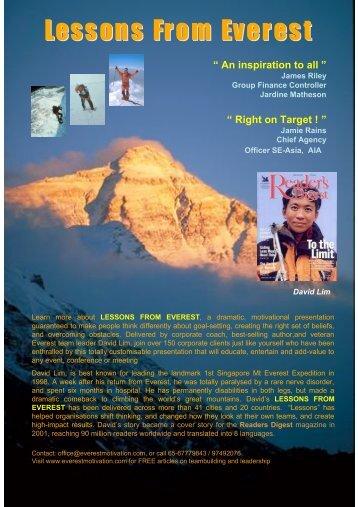 Lessons From Everest - Everest Motivation Team