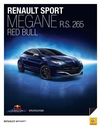 MEGANE R.S. 265 renault SPOrt RED BULL