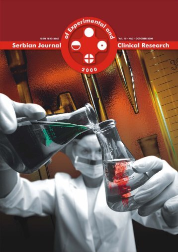 Serbian Journal of Experimental and Clinical Research Vol10 No3