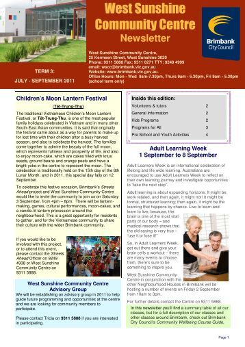 Newsletter draft 1 Term 3 2011.pub - Brimbank City Council