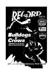 Sydney AFL Record - NSW Australian Football History Society Inc