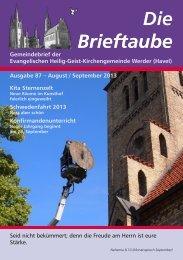 Ausgabe 87 August - September 2013 - Heilig-Geist ...