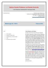 Mitteilungen der Sektion 1/2013 - Sektion Soziale Probleme und ...
