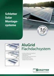 AluGrid Flachdachsystem - Schletter GmbH