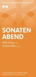sonaten abend - Meister & Kammerkonzerte