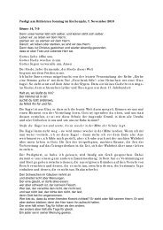Predigt am Drittletzten Sonntag im Kirchenjahr, 7 ... - Genezareth