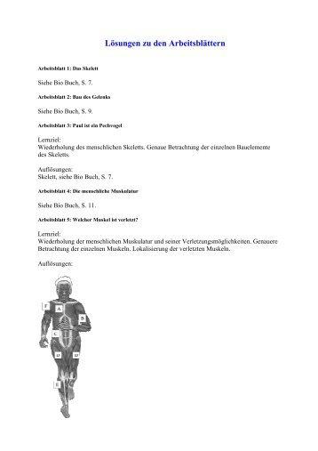 Lösungen zu den Arbeitsblättern und Quiz zum Bio Buch 1 (lt