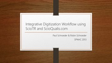 The entire ScioTR presentation can be viewed here as a PDF.