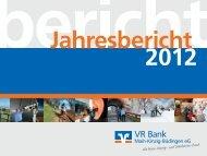 Jahresbericht 2012 als PDF öffnen - VR Bank Main-Kinzig-Büdingen ...