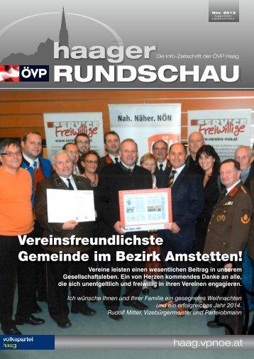 haager RUNDSCHAU - ÖVP Haag