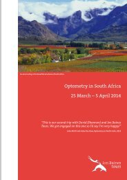 25 March – 5 April 2014 Optometry in South Africa - Jon Baines Tours
