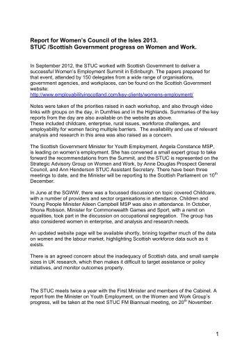Report - Irish Congress of Trade Unions