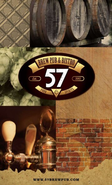 To Browse The Menu - 57 Brew Pub & Bistro