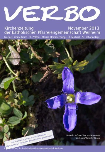 Kirchenzeitung November 2013 der katholischen ...