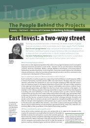 East Invest: a two-way street - EU Neighbourhood Info Centre