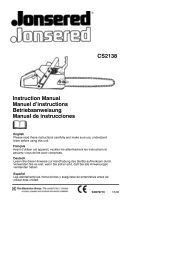 Instruction Manual Manuel d'instructions ... - Jonsered.com