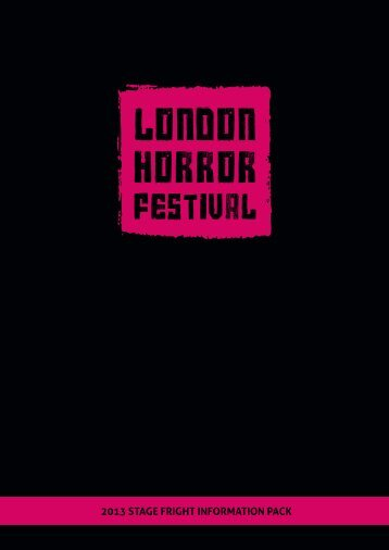 download the information pack - London Horror Festival
