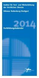 Fortbildungskalender 2014 - Katholische Kirchengemeinde Hl. Kreuz