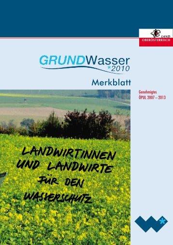 6 grundwasser 2010 - Wasserschutzberatung
