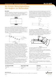 Das Victaulic Rohrverlegeverfahren zum Ausgleich von ...