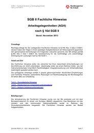 SGB II Fachliche Hinweise Arbeitsgelegenheiten (AGH) - Jobcenter ...
