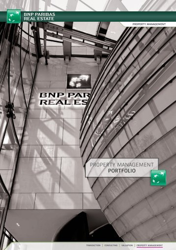 PROPERTY MANAGEMENT PORTFOLIO - BNP Paribas Real Estate