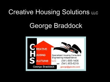 Creative Housing Solutions LLC George Braddock - NASDDDS