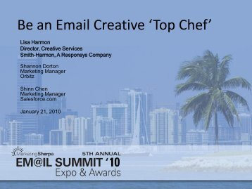 Be an Email Creative 'Top Chef' - MarketingSherpa