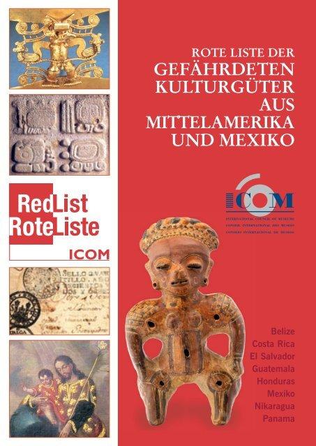Rote Liste der gefährdeten Kulturgüter aus Mittelamerika und Mexiko