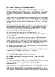 Die Altlasten-Sanierung mittels Wasserhaltung Die richtige ...