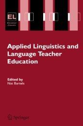 Applied Linguistics and Language Teacher Education by Nat Bartels
