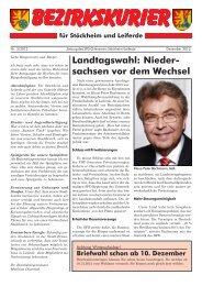Landtagswahl: Nieder- sachsen vor dem Wechsel - Klaus-Peter ...
