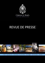 REVUE DE PRESSE - Château le Bouis