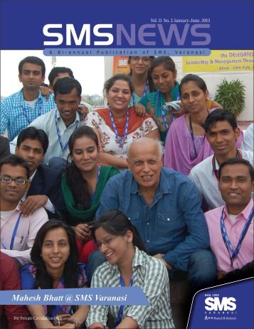 Vol.11 No. 2, Jan-June, 2013 - School of Management Sciences ...