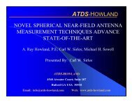 ATDS-HOWLAND NOVEL SPHERICAL NEAR-FIELD ANTENNA ...