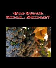 Que Syrah Sirah...Shiraz!? - Maurice Wine Cru