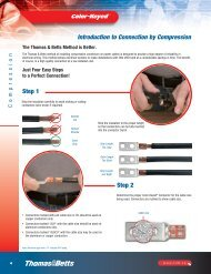 Tools for industrial electrical applications