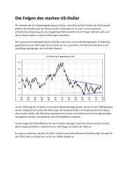 Die Folgen des starken US-Dollar