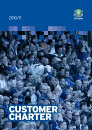 CUSTOMER CHARTER - Everton FC Shareholders' Association
