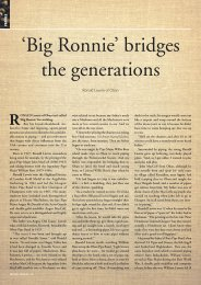 'Big Ronnie' bridges the generations - The National Piping Centre ...