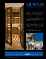 Hope's Architectural Binder - BGR Specialties