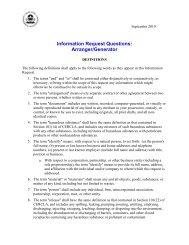 Information Request Questions: Arrangers and Generators - US ...