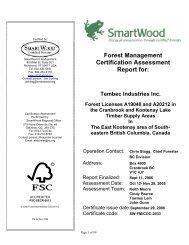 Forest Management Certification Assessment Report for - Rainforest ...