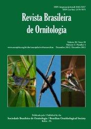 Revista Brasileira de Ornitologia - Universidade Federal do Acre