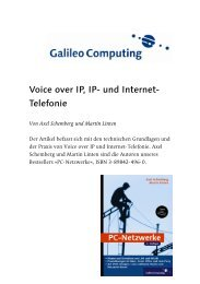 Voice over IP, IP- und Internet- Telefonie - PhoNet