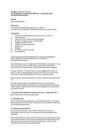 Protokoll (gekürzte Fassung) - Turnverband Bern Mittelland