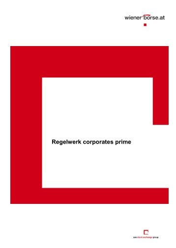 Regelwerk corporates prime (PDF-File 300 KB) - Wiener Börse